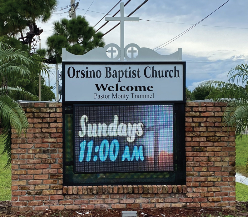 Orsino Baptist Church LED Sign