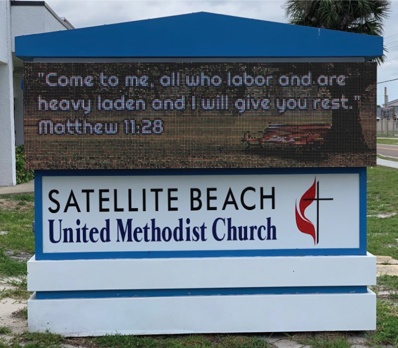 Satellite Beach Church LED Sign